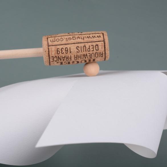 Pin-in-cork-detail