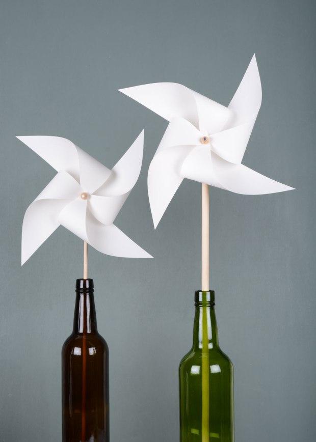White-pinwheel-in-bottle