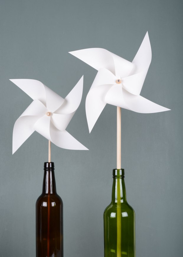 White-pinwheel-in-bottle