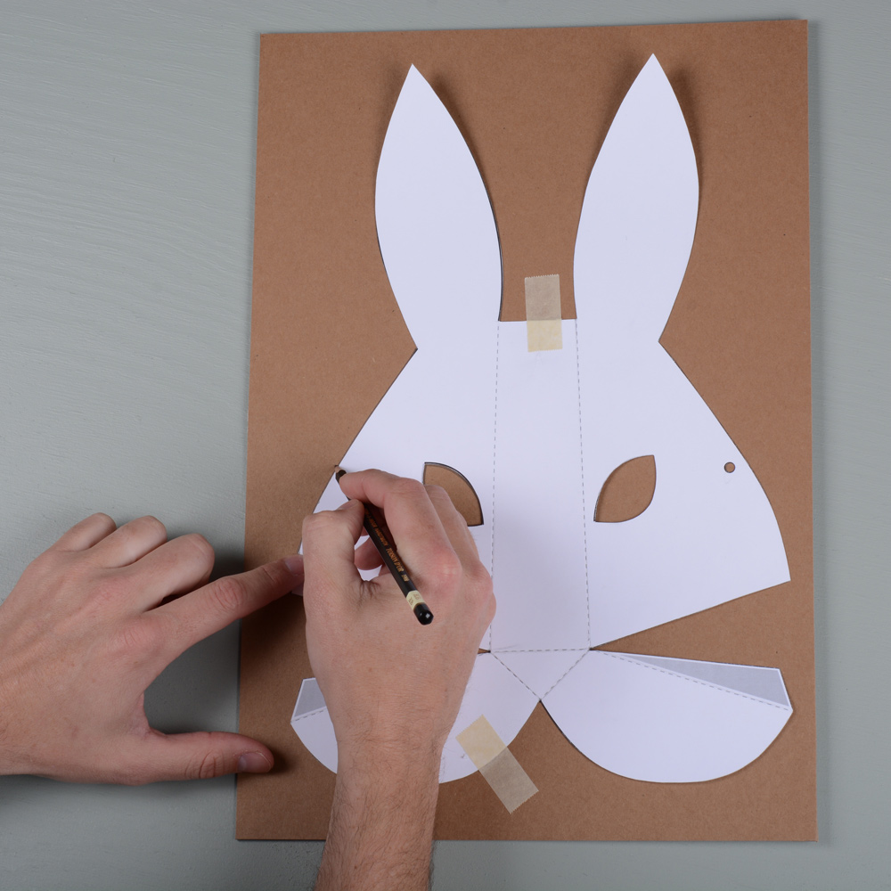 Paper mask – Rabbit – The Gentle Journal