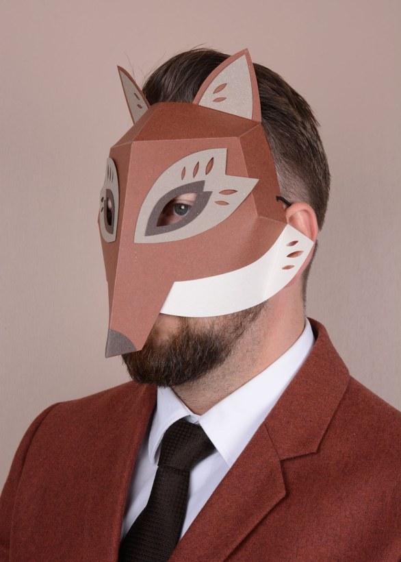 Paper mask Fox