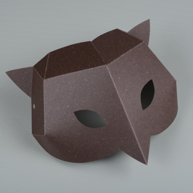 Paper mask Owl